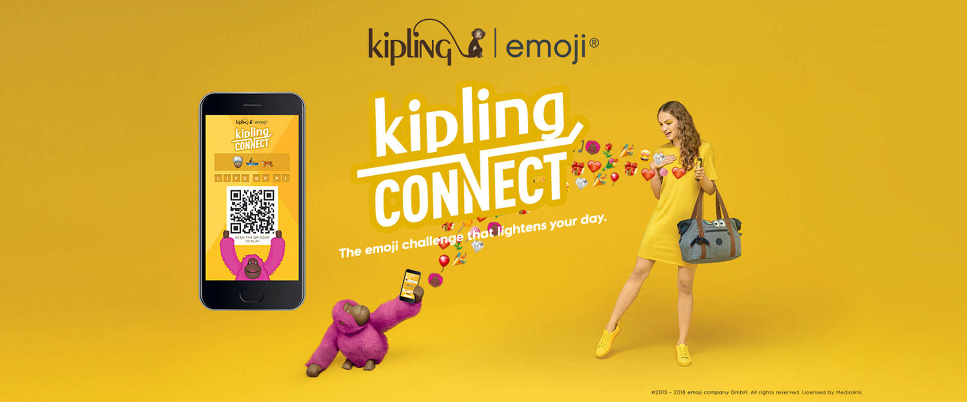 Kipling x emoji®